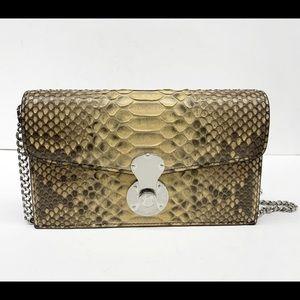 Ralph Lauren Ricky Python Chain wallet